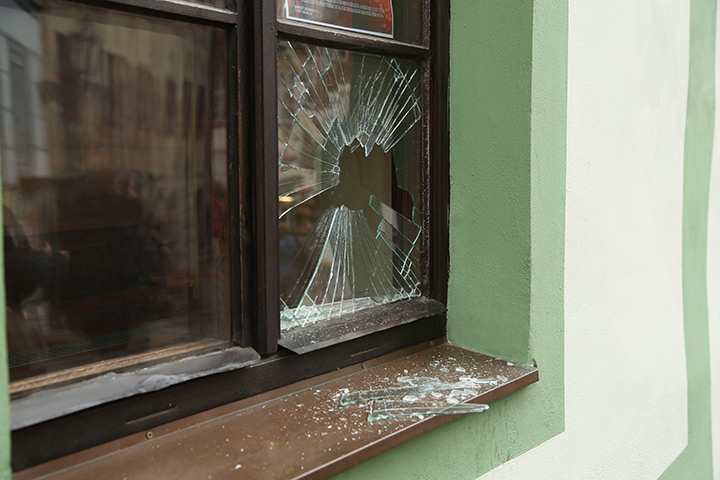 A2B Glass are able to board up broken windows while they are being repaired in Worcester Park.